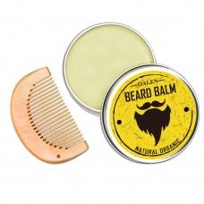 Набор: бальзам для бороды 30 г + гребень. В льняном мешочке