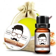 Набор: масло для бороды 10 мл + воск для усов 30 г