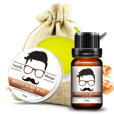 Набор NABO-KOSM-11: масло для бороды 10 мл и воск для усов 30 г