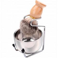 Крем для бритья, мыло для бритья, помазки и чаши для создания пены